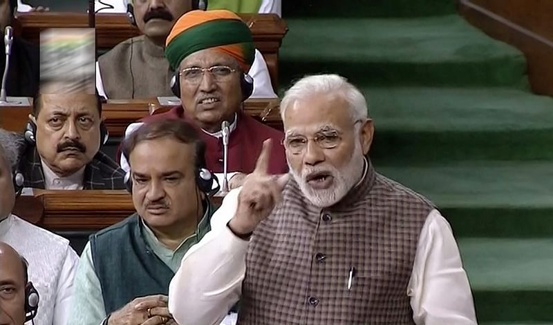 PM Modi attacks Congress in Parliament, says fulfilling Mahatma Gandhi's dream of 'Congress-mukt Bharat'