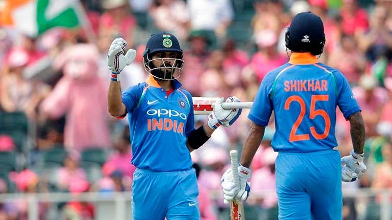India vs South Africa 3rd T20I: Injured Virat Kohli turns masseur for Shikhar Dhawan