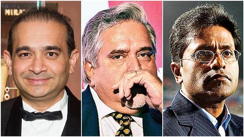 From (L) to (R): Nirav Modi, Vijay Mallya, Lalit Modi