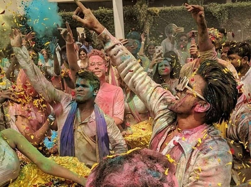 Ranveer Singh host Holi party for Pharrell Williams atTaj Land Ends; See pics