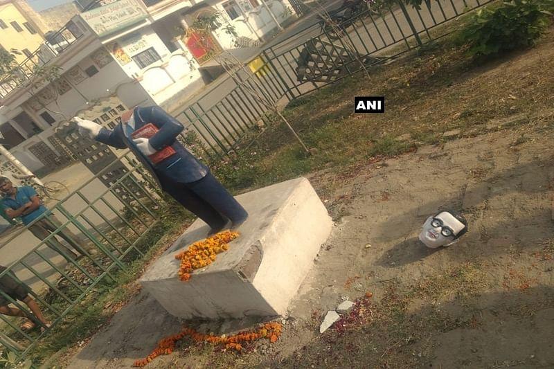 Statue vandalisation continues: Ambedkar statue vandalised in Allahabad