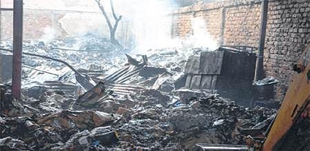 Bhopal: Fire engulfs factory in Govindpura