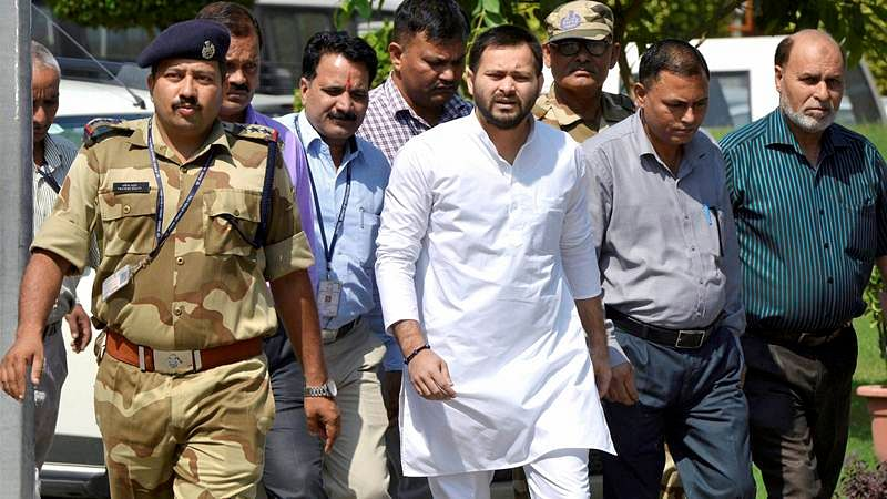 Had Lalu Yadav joined hands with BJP he would have been considered ' Raja Harishchandra': Tejashwi Yadav