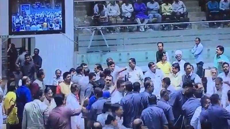 Gujarat: 2 Congress MLAs suspended for 3 years for attacking BJP MPs in Assembly, creating ruckus