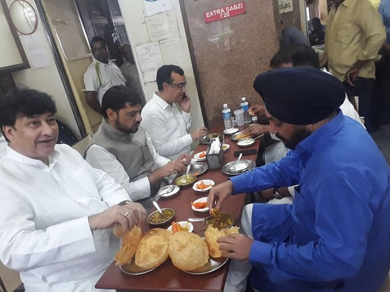 Congress' fast at Rajghat: BJP leader claims to have seen Congress leaders eating before fast