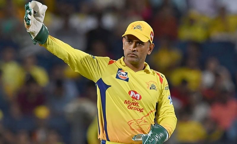 CSK wicketkeeper and captain Mahendra Singh Dhoni during an IPL match