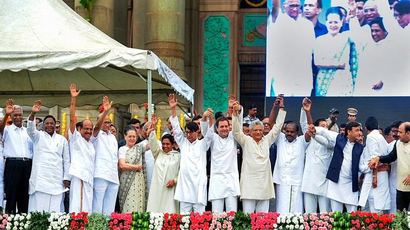 Opposition leaders come together on single platform for Kumaraswamy's swearing-in ceremony