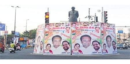 Bhopal: Political hoardings defacing city skyline, roads