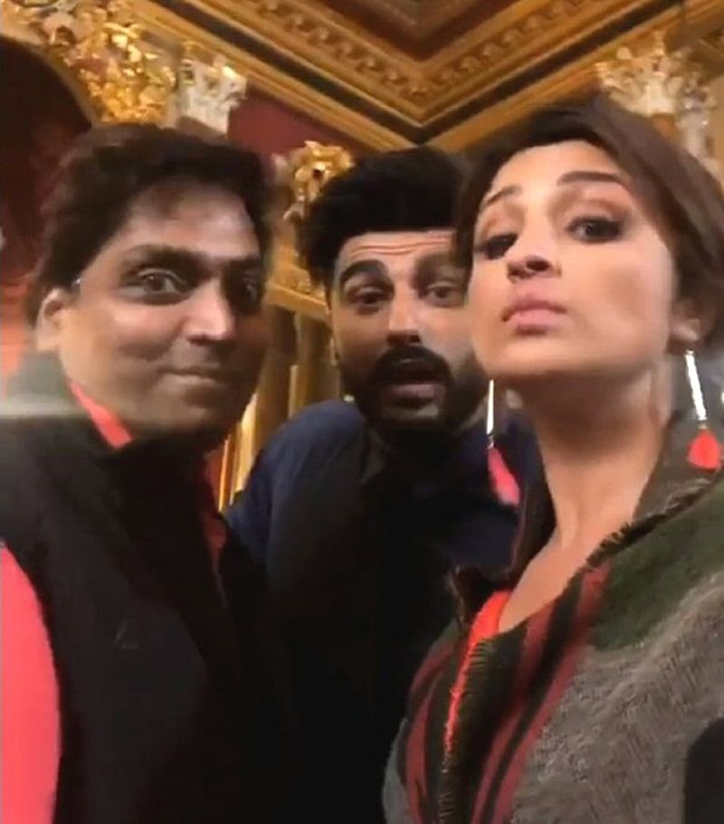 Parineeti Chopra and Arjun Kapoor gear up for a song shoot in London with 'Namaste Headshake'