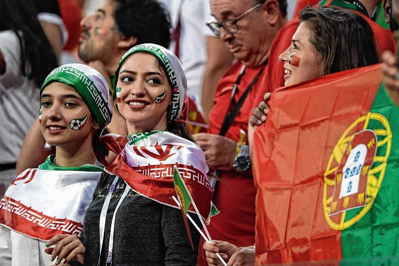 Iranian women grab spot in the WC stands