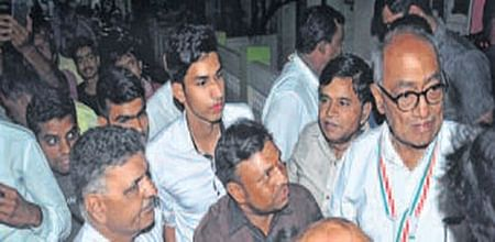Ujjain: Digviyaya Singh arrives in Mahakal city for his 'Mission Unity-18'
