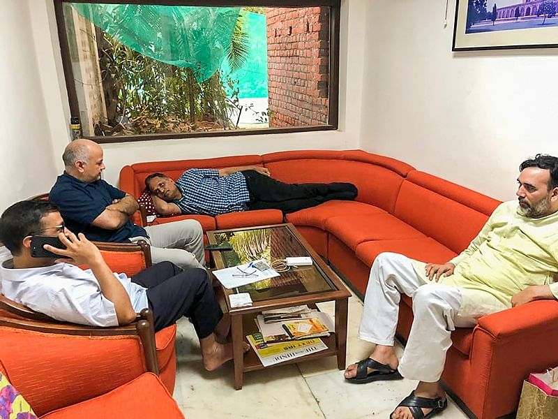 A gimmicky sit-in in Delhi