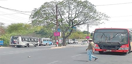 Bhopal: Private buses parked outside ISBT irk commuters