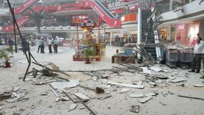 Mumbai: Part of ceiling in Vashi's Raghuleela Mall collapses; Watch video