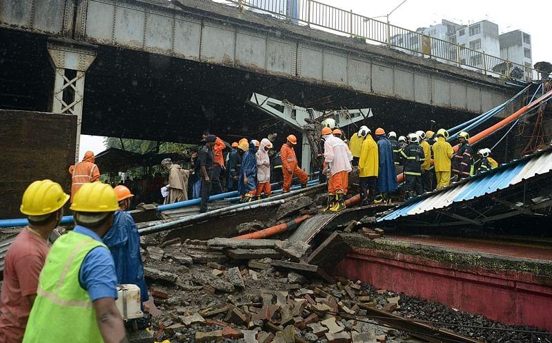 Mumbai Rains: Part of overbridge collapses in Andheri, local train services hit