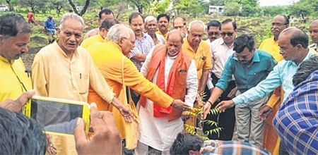 Ujjain: Mass plantation drive held by Gayatri Pariwar