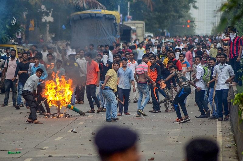 Maharashtra: Protest turns violent, injures 6 cops after cattle carcasses are found near Mumbai-Goa highway