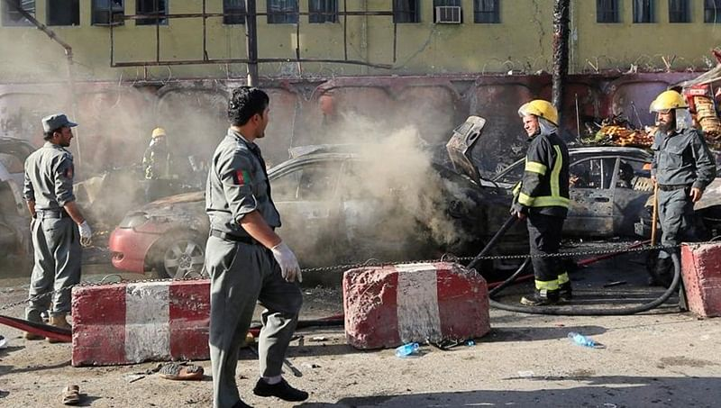 Afghanistan: Roadside bomb hits bus, killing eight, wounding 40, says officials
