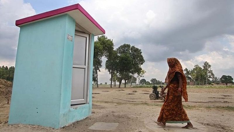 Madhya Pradesh woman living in toilet after dispute with family