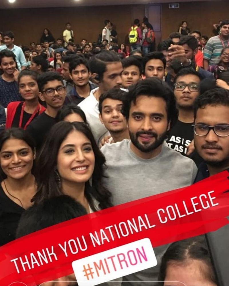 Mitron stars Jackky Bhagnani, Kritika Kamra visit college in Mumbai to interact with fans