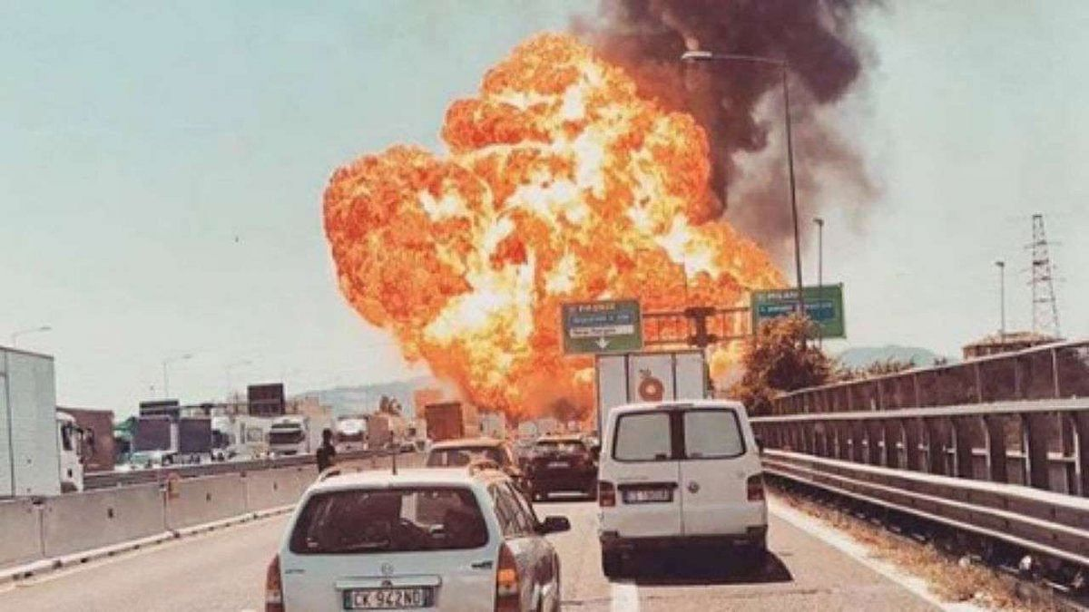 Oil tanker explodes near Bologna airport in Italy, some people injured