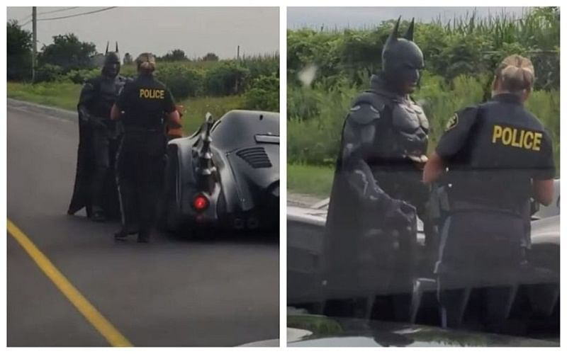 Cop spots Batman on Canada streets, what he does next will bring a smile to your face!