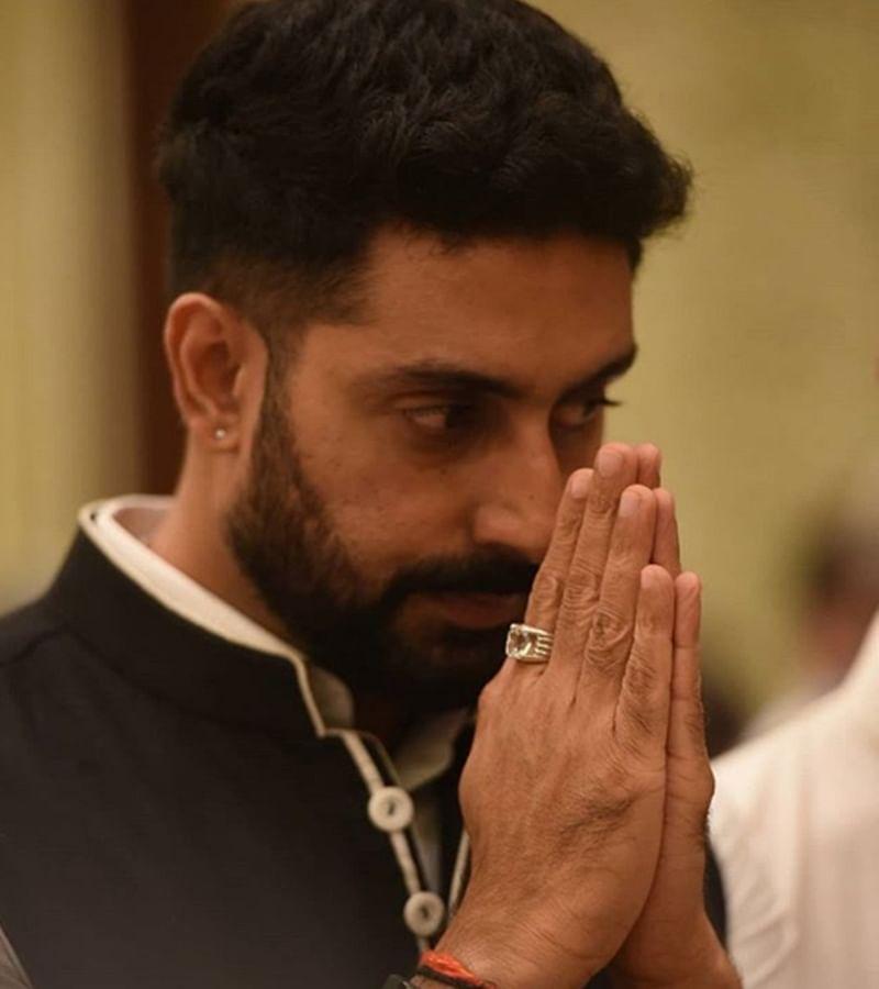 Abhishek Bachchan, brother-in-law Nikhil Nanda immerse Rajan Nanda's ashes in Haridwar