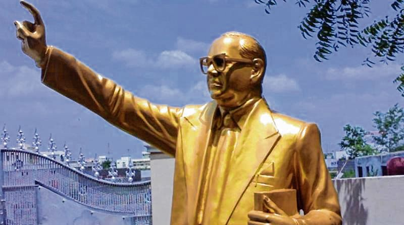 Made in China: Parts of Dr Ambedkar's statue