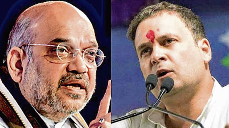 Is Congress with urban naxals, asks Amit Shah