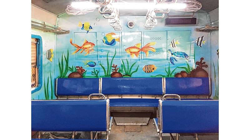 Mumbai: Second ladies' coach gets aquarium-themed interior