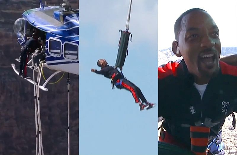 Will Smith rings in 50th birthday with bungee jump over Grand Canyon