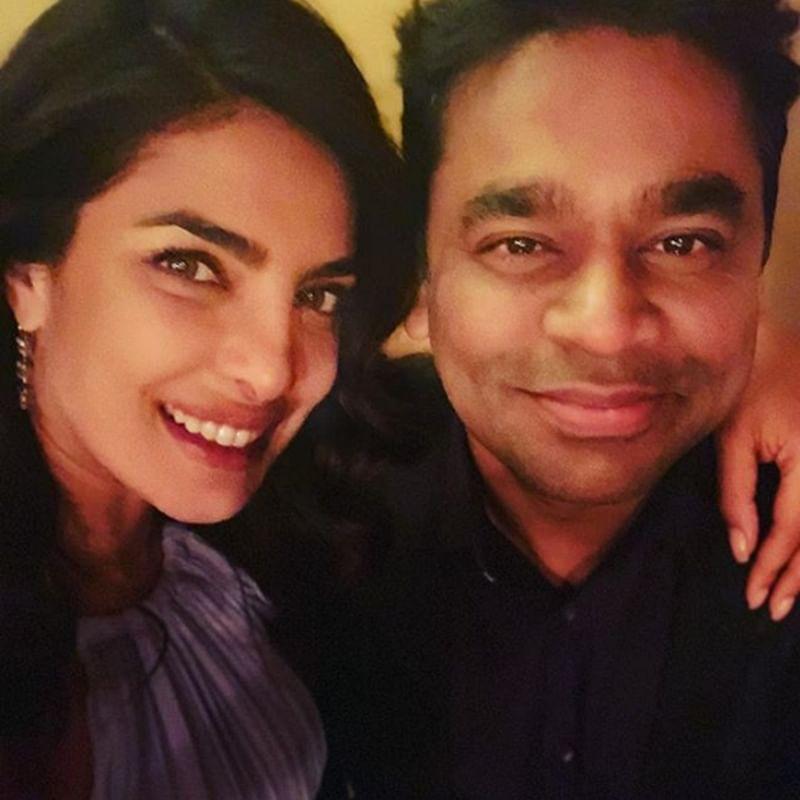 Priyanka Chopra poses with music maestro A R Rahman