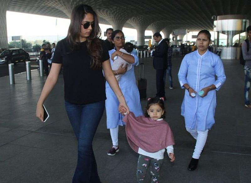 Mommy Power! Mira Rajput spotted at airport with daughter Misha and son Zain Kapoor