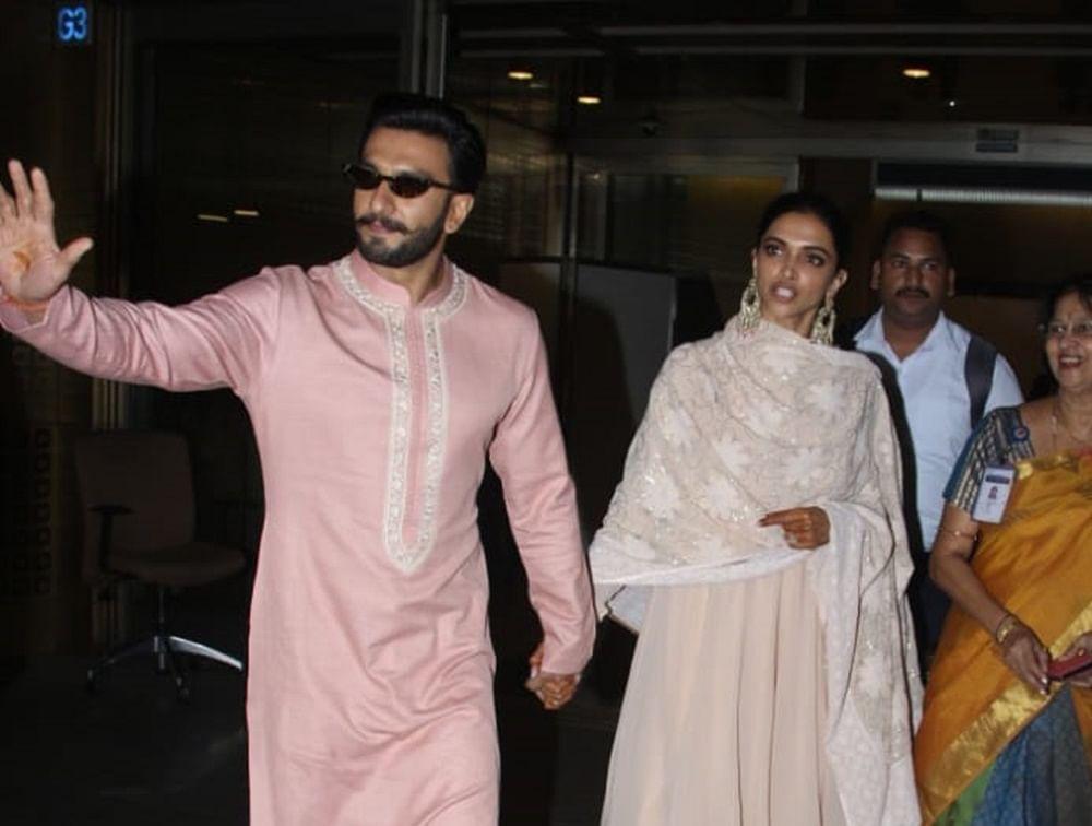 Newlyweds Deepika-Ranveer return to Mumbai after Bengaluru reception