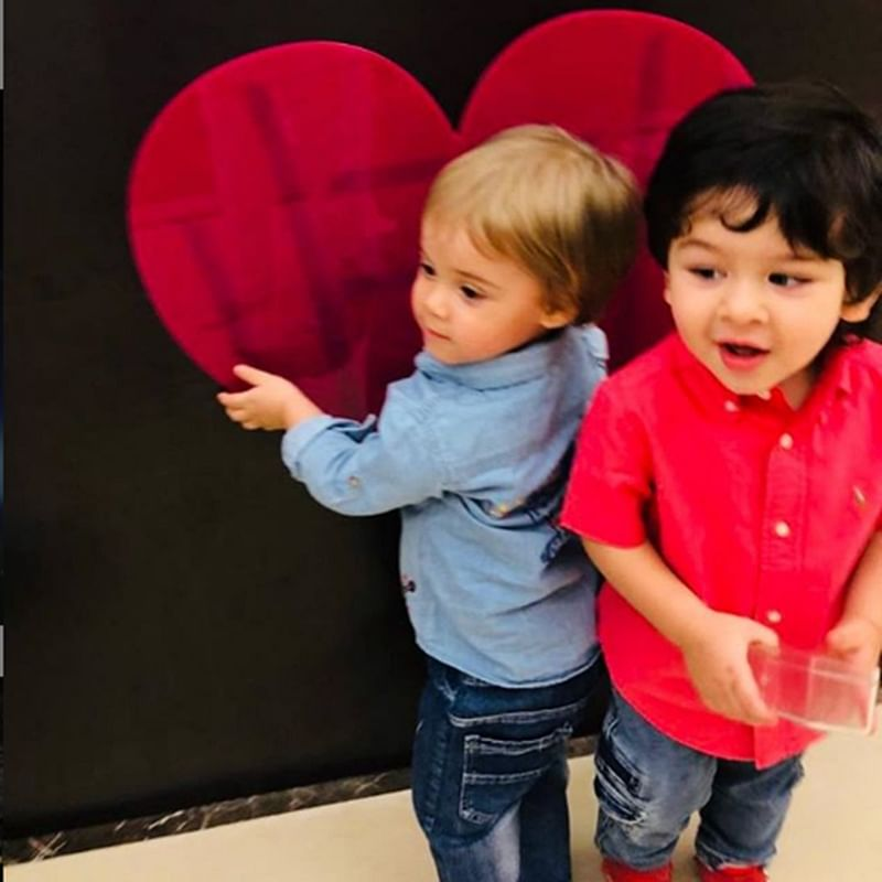 Check out Taimur Ali Khan and Yash Johar's cute play date to get rid of your Monday blues