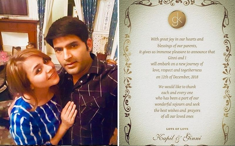Kapil Sharma reveals wedding card, 'With great joy in hearts and blessings of parents'