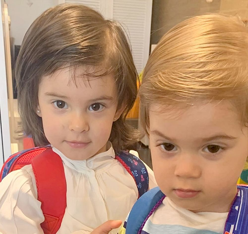 Karan Johar's children's Roohi and Yash are off to school