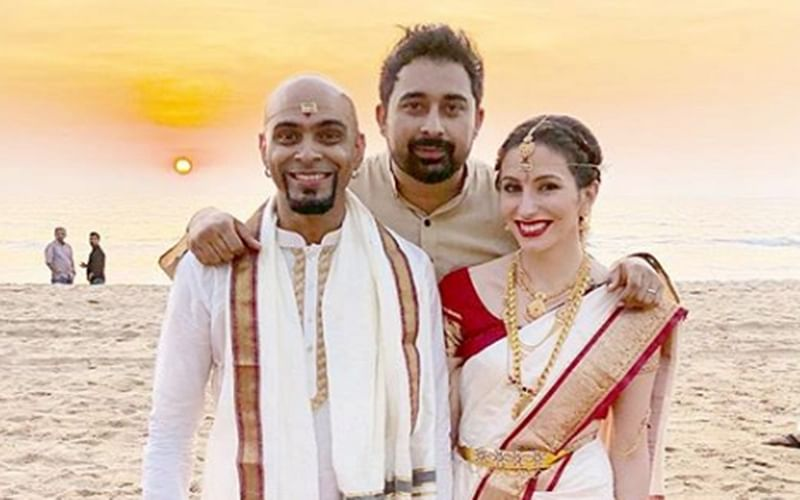 Ex-Roadies judge Raghu Ram and singer Natalie Di Luccio get hitched in South Indian wedding ceremony; see pics