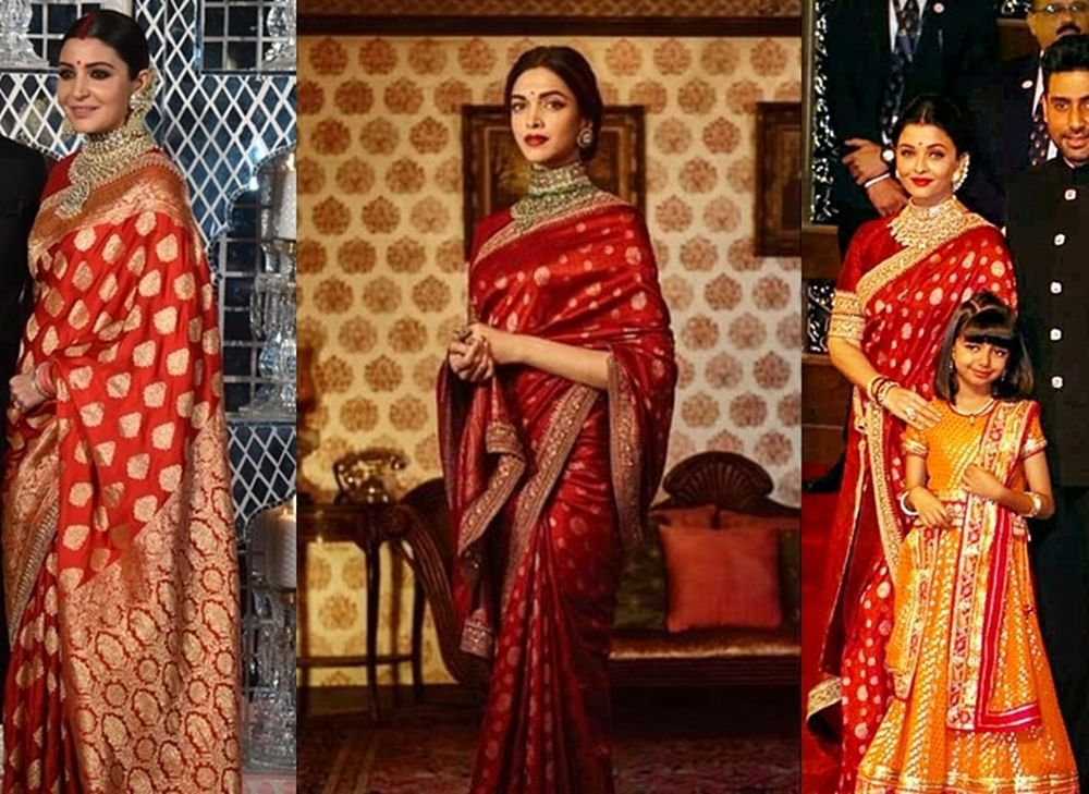 Deepika, Aishwarya or Anushka, who wore this Sabyasachi outfit better?