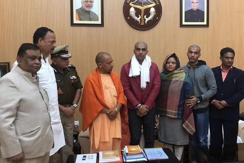 Bulandshahr violence: Yogi Adityanath meets slain officer's family, assures education aid