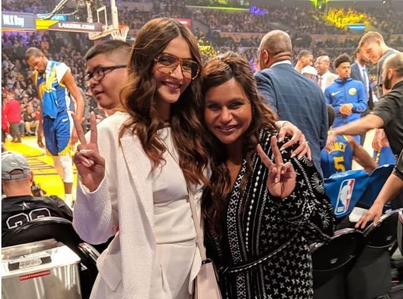 Sonam Kapoor meets 'impossibly sweet, funny, smart' Mindy Kaling in Los Angeles