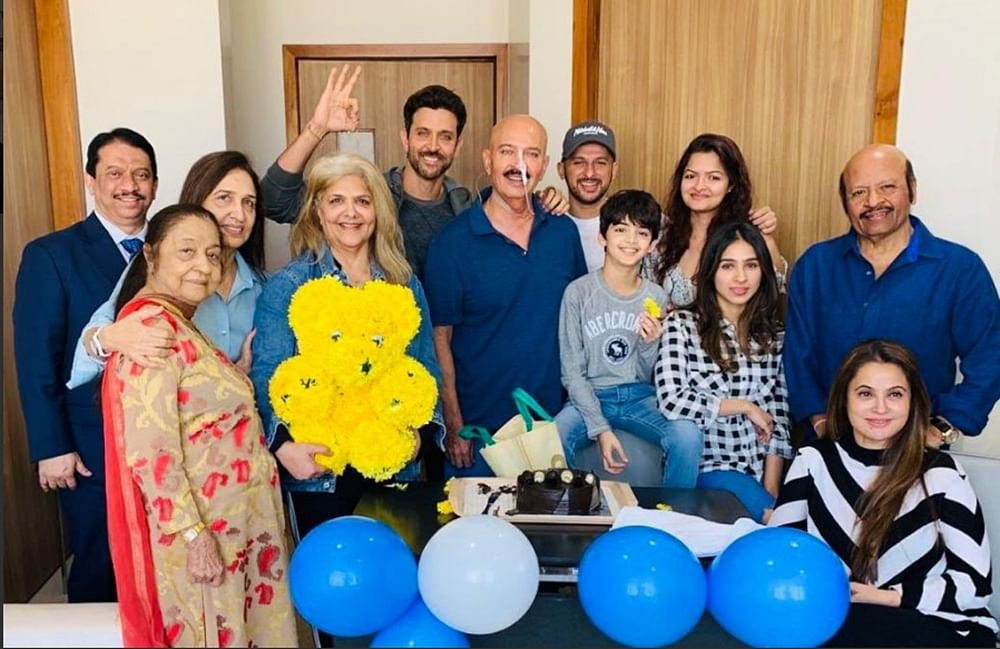 This pic of Rakesh Roshan with an IV drip at Hrithik's birthday celebration is winning hearts all over the internet