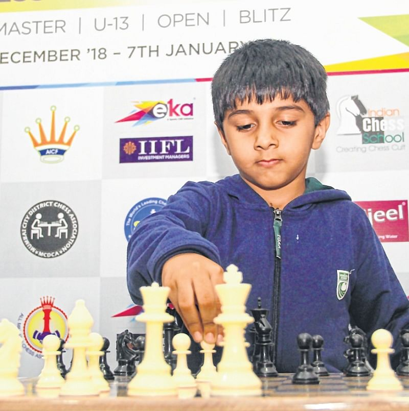 Young chess wizard in the making