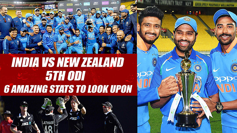 India vs New Zealand 5th ODI | 6 Amazing Stats To Look Upon