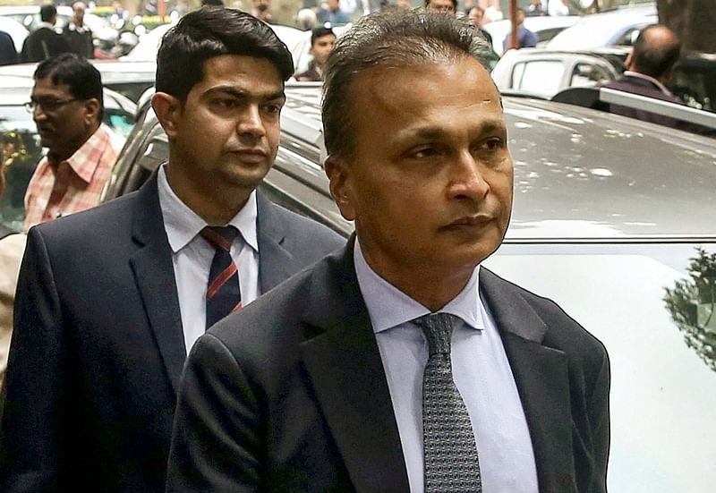 Reliance Communication Ltd (RCom) Chairman Anil Ambani leaves after appearing at the Supreme Court in connection with a contempt petition filed by Ericsson India against him over non-payment of dues. PTI Photo/ Shahbaz Khan