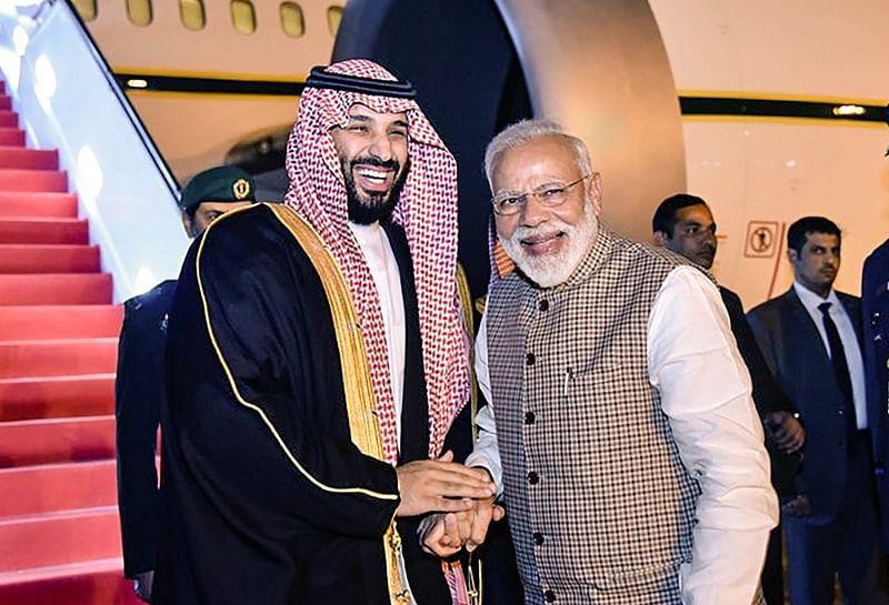 PM Narendra Modi breaks protocol to welcome Saudi's crown prince Mohammed bin Salman