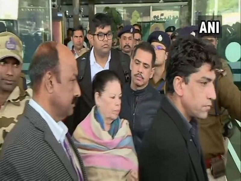 Robert Vadra along with mother Maureen to appear before ED in Bikaner land scam case in Jaipur today