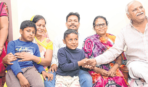 Indore: Overjoyed family welcomes boy in arms