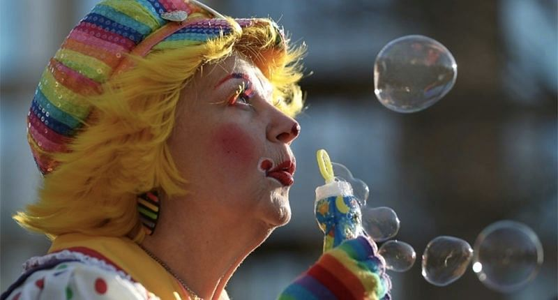 Annual pilgrimage of clowns in east London