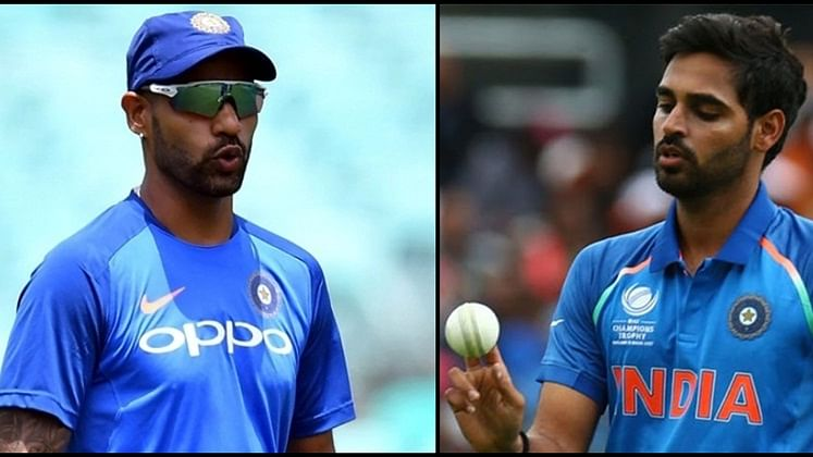 Watch: Bhuvneshwar Kumar mocks Shikhar Dhawan's 'natural talent for memory loss'